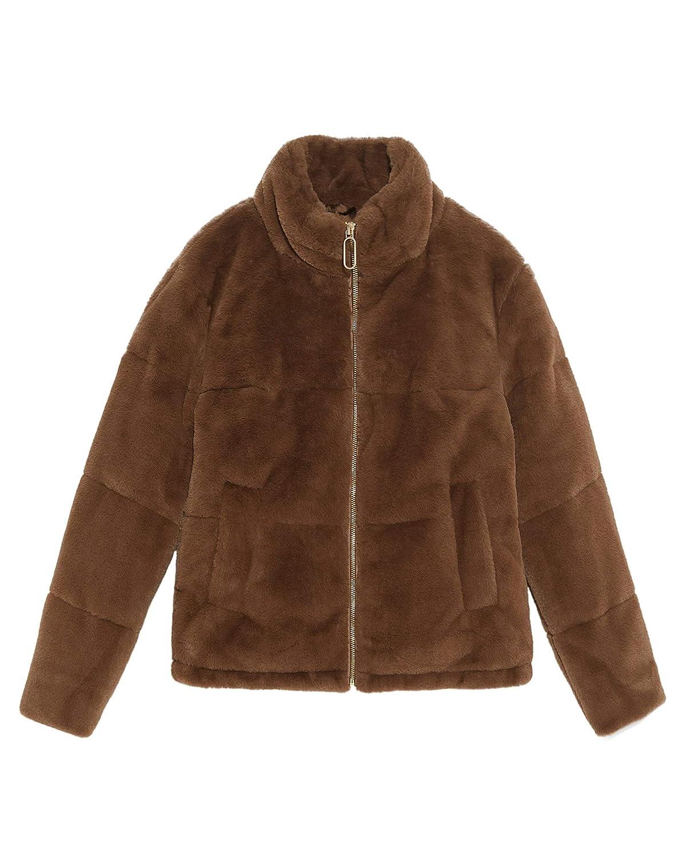 04899617 Zara Women's Faux Fur Jacket 8073/033 Brown: Amazon.co.uk: Clothing
