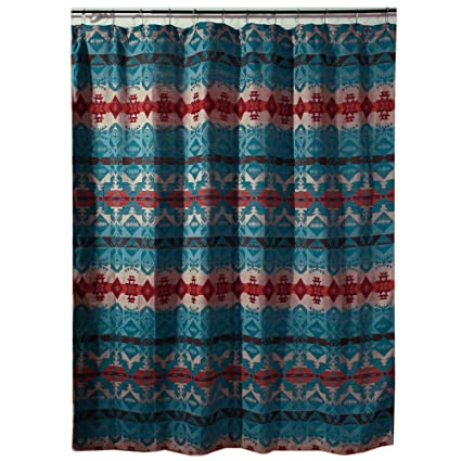Black Forest Decor Cerrillos Hills Turquoise Southwestern Shower Curtain