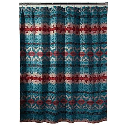 Black Forest Decor Cerrillos Hills Turquoise Southwestern Shower Curtain