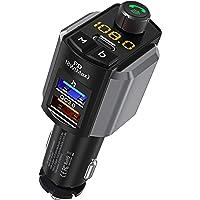 Transmissor FM LENCENT Bluetooth 5.0 para carro, QC 3.0 e Type-C PD 41W carregador adaptador de áudio, chamadas mãos…