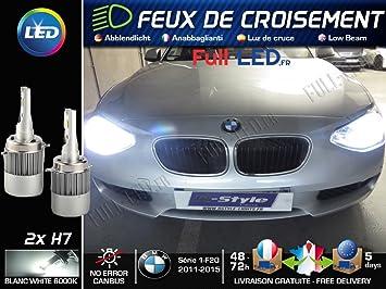 Bombillas LED H7 - especial BMW Serie 1 F20 F21 - Luz de cruce: Amazon.es: Coche y moto