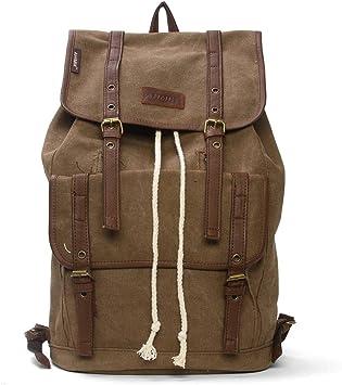 Amyannie Canvas Bag Outdoor Travel Backpack Shoulder Bag Retro Casual Men Wear Mountaineering Bag