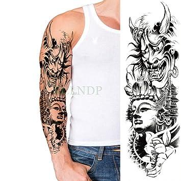 Handaxian 3pcsPegatina de Tatuaje a Prueba de Agua Wolf Wing Cross ...