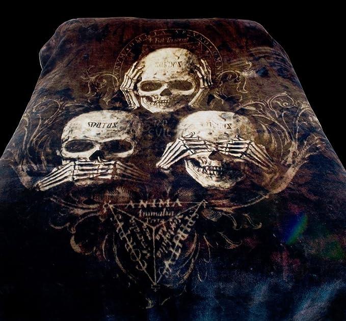 Alchemy XXL Fleecedecke Rabe Fantasy Gothic Decke kuschelig Nevermore