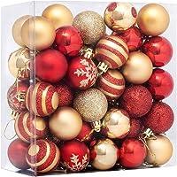 Angoily 50PCS Enfeites De Bola De Natal para Decorações Da Árvore de Natal 4CM Vermelho E Inquebráveis Enfeites De Natal…