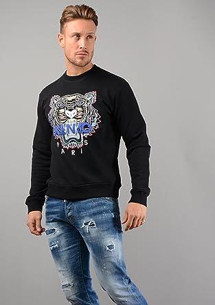 Kenzo Pull - Hommes ssw001 Tigre Pull Noir - Noir, X-Large  Amazon.fr   Vêtements et accessoires 6371937f946