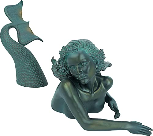 Design Toscano DB383047 Meara the Mermaid Swimmer Outdoor Garden Statue