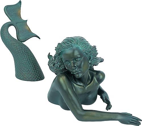 Design Toscano DB383047 Meara the Mermaid Swimmer Outdoor Garden Statue
