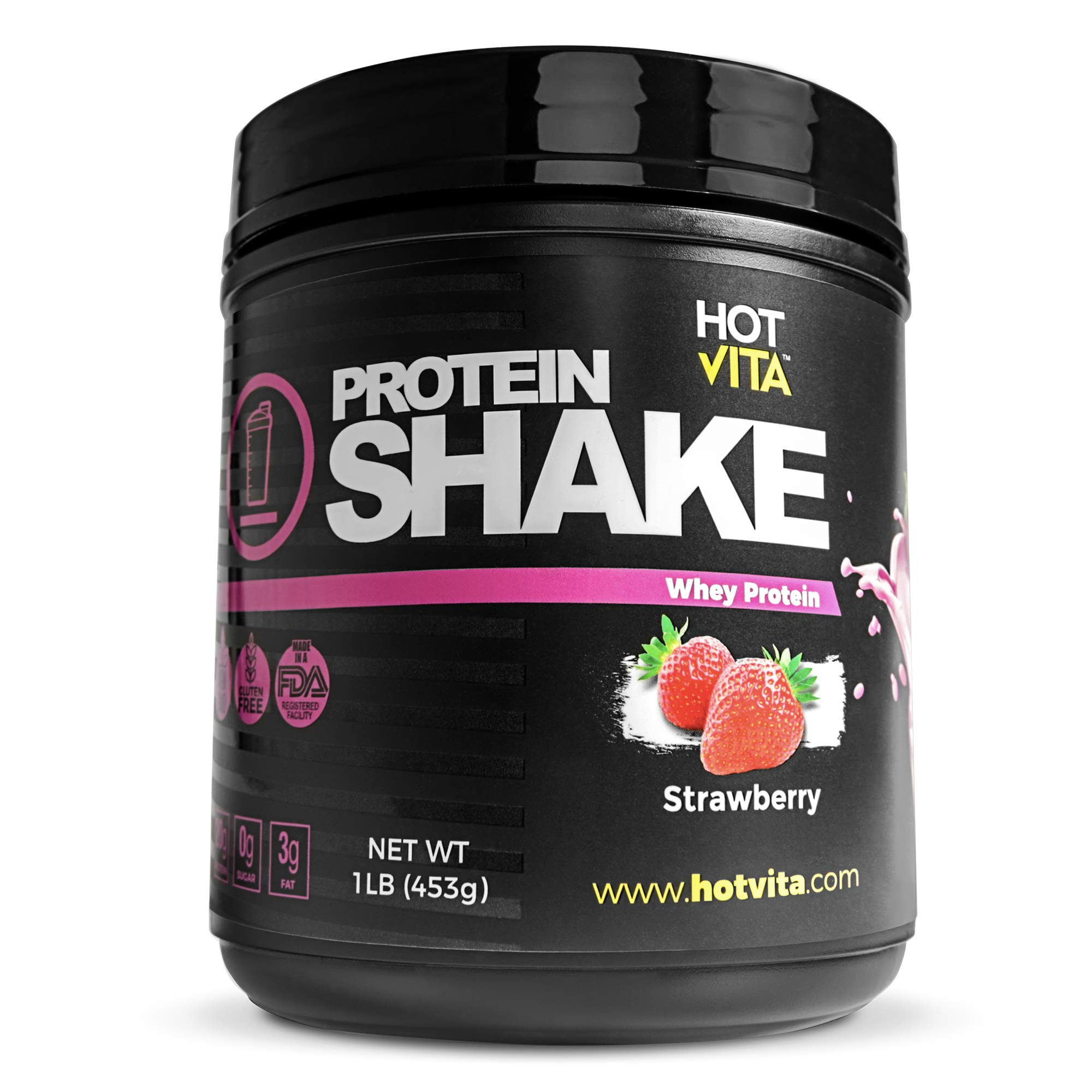 Hot Vita Meal Replacement Protein Shakes for Women - Gluten Free, Non-GMO, Meal Replacement Protein Powder for Weight Loss (Strawberry) by Hot Vita