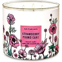 BBW White Barn Strawberry Pound Cake 3 Wick Scented Candle 14.5 oz.