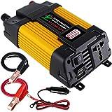 GUOXIN Inversor de corriente 12V 220V Inversor Coche 1000W Convertidor de Voltaje coche de 12V a 220V con LED Battery Pantalla Puerto 4.2A USB Adaprador De Mechero Encendedor De Coche