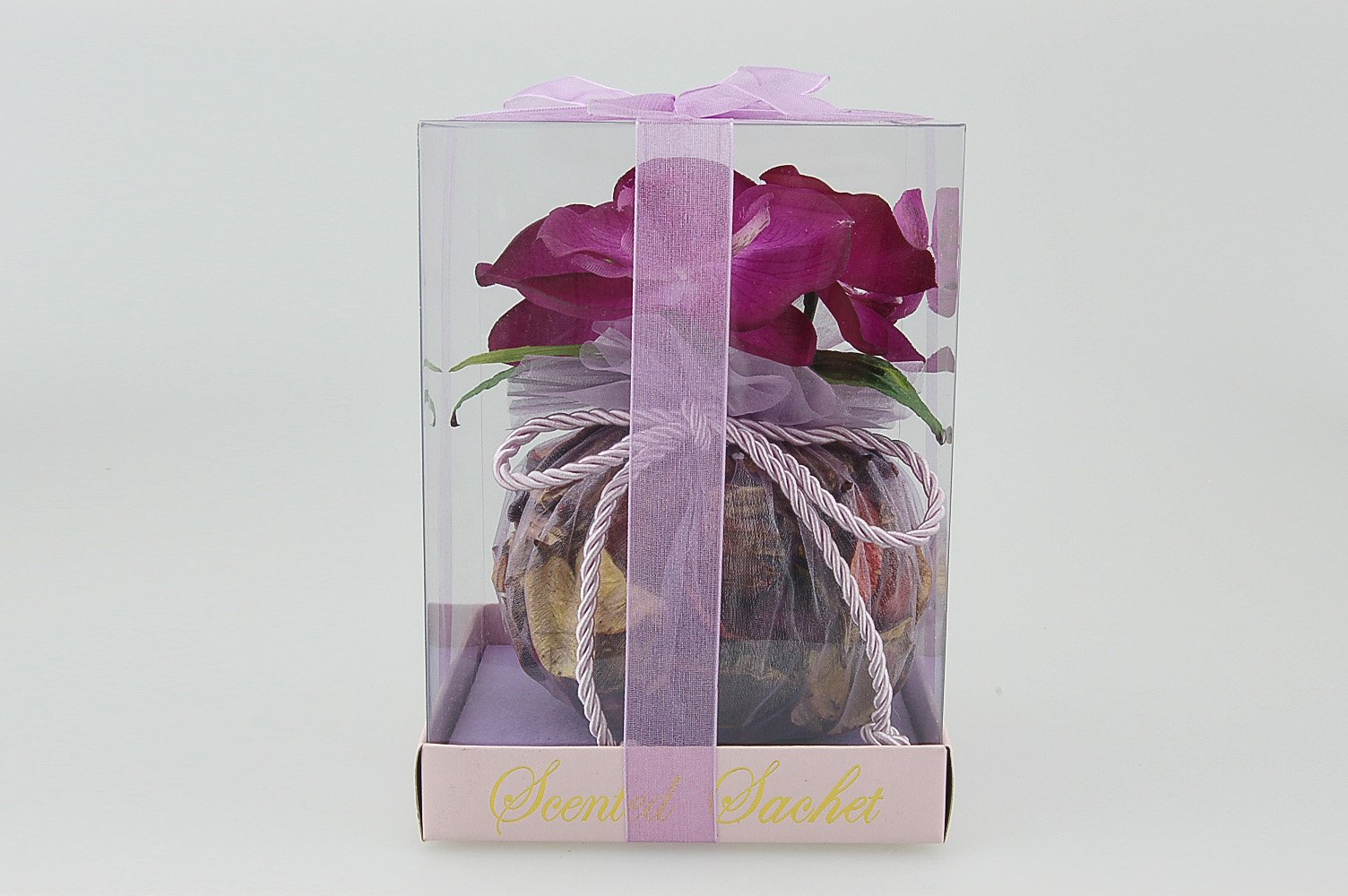 Flora Bunda DF182 Sachet with Orchids in PVC Box (Purple, 24 pcs) by Flora Bunda