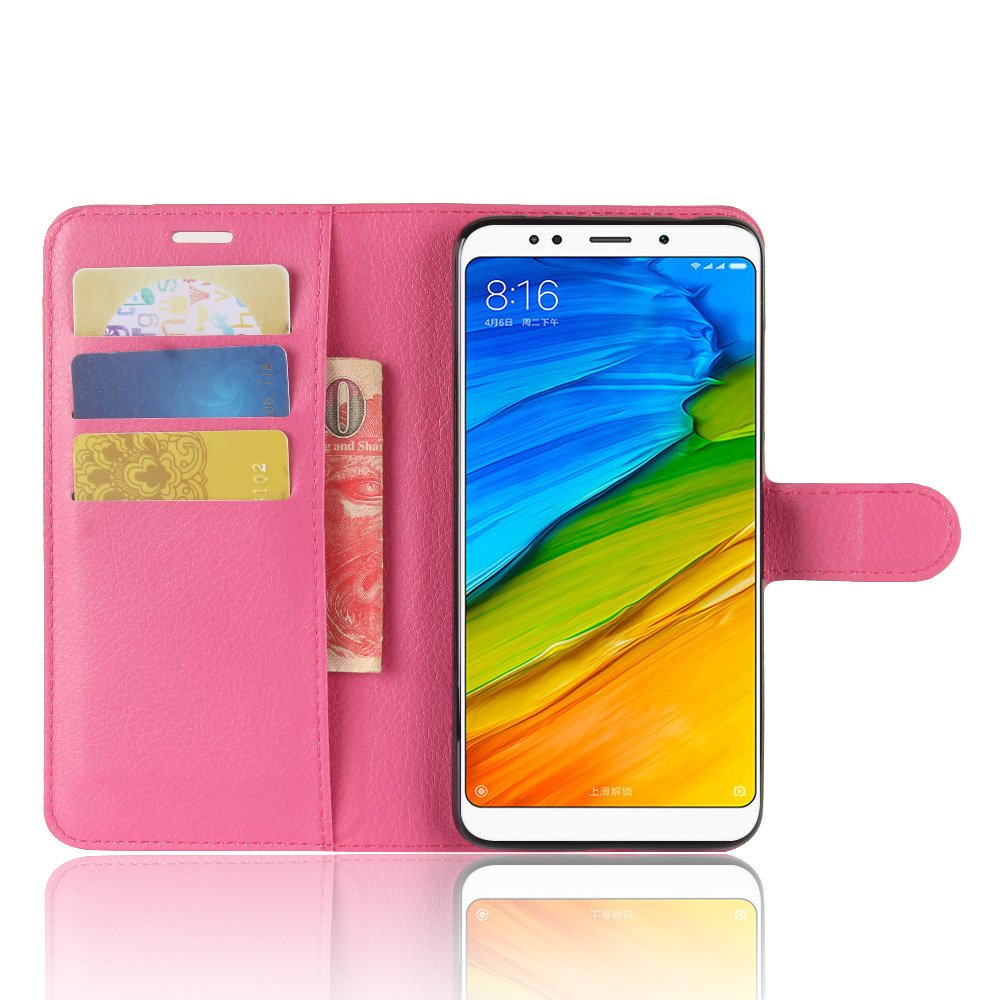 PU Leather Wallet case with ID/&Credit Card Pockets for Xiaomi Redmi Note 5//Redmi Note 5 Pro Redmi Note 5 Pro Case 5.99 Flip Folio Luffytops Redmi Note 5 case Kickstand Feature - Black