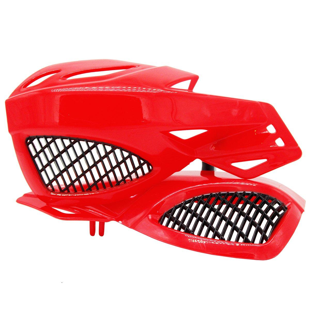 Lozom 7//8 Motorcycle Handguards Handlebar Hand Guards Brush Bar Protector For Motocross Supermoto Racing Dirt Bike ATV White