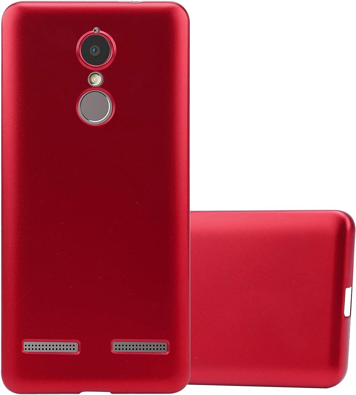 Cadorabo Funda para Lenovo K6 / K6 Power en Metallic Rojo: Amazon.es: Electrónica