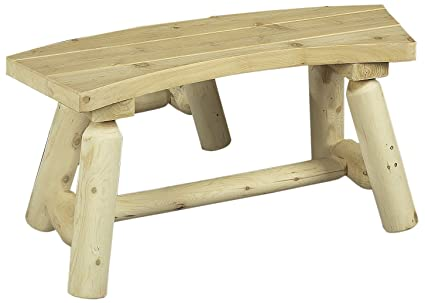 Peachy Cedarlooks 030020 Log Round Bench 3 Feet 2 Benches Per Box Gmtry Best Dining Table And Chair Ideas Images Gmtryco