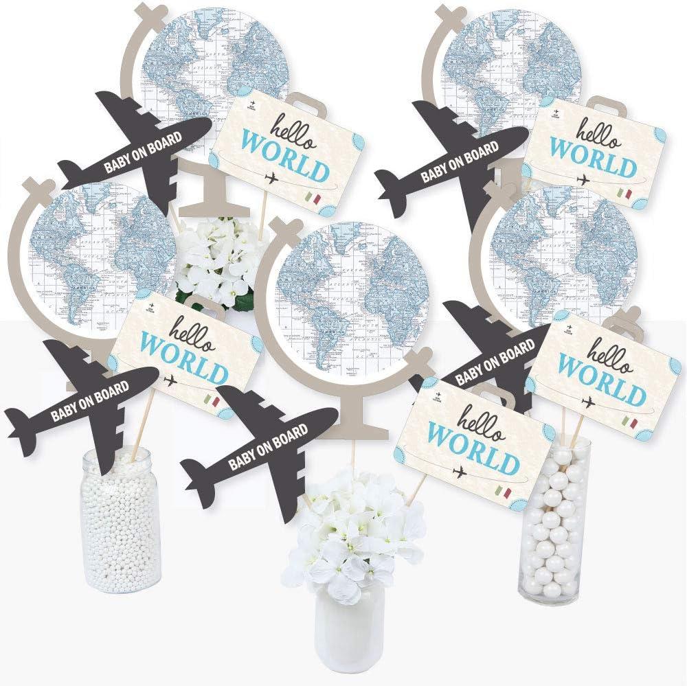Precious Cargo - Blue - Boy Baby Shower Centerpiece Sticks - Table Toppers - Set of 15