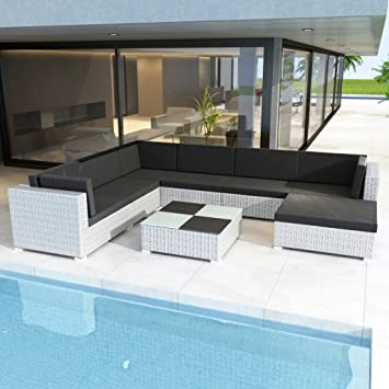 Amazonde Anself Rattan Lounge Set Loungemöbel Loungeset