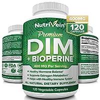Nutrivein DIM Supplement 400mg Diindolylmethane Plus Bioperine - Maintain Hormone...