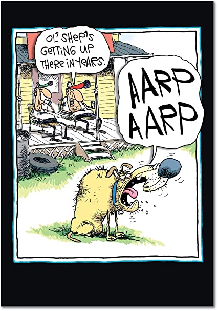 Amazon 4322 AARP Hilarious Birthday Greeting Card With