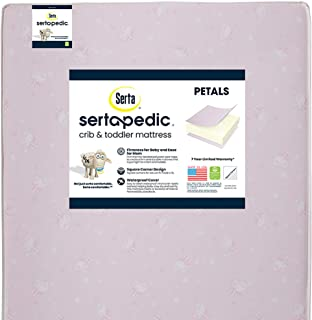product image for Serta Sertapedic Petals Fiber Core Crib and Toddler Mattress | Waterproof | GREENGUARD Gold Certified | Trusted 7 Year Warranty | Made in The USA