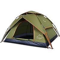 Toogh Tentes de Camping familiales 2-3 Personnes Four Seasons Backpacking Tentes Automatique en Temps réel Pop-up Les Sports de Plein air La Tente du dôme