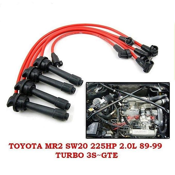 8 mm de alambre de plomo de encendido Bujía Set Toyota MR2 SW20 225Hp L Turbo 3s-gte 1991 - 95: Amazon.es: Coche y moto