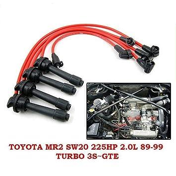 8 mm de alambre de plomo de encendido Bujía Set Toyota MR2 SW20 225Hp L Turbo