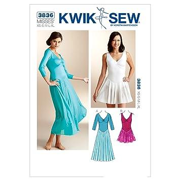 KWIK SEW Muster K3836 Größe Extra Small-Größe S, M, L, XL, große ...
