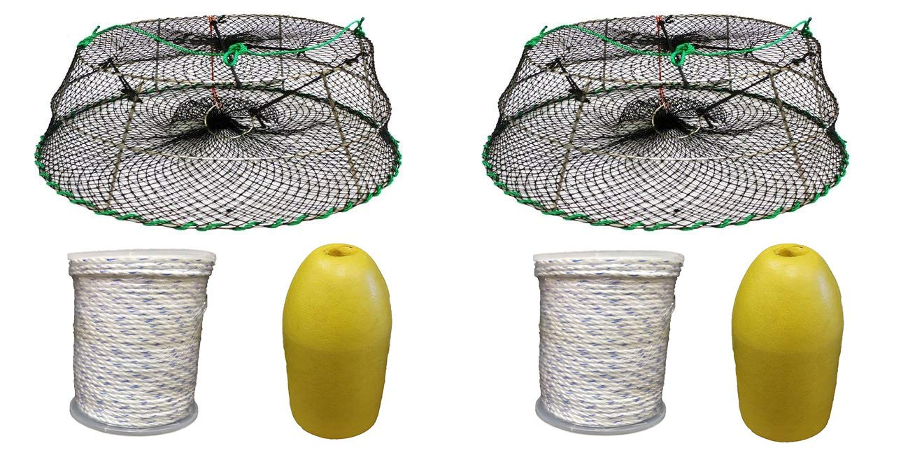 KUFA Sports 2-Pack of Tower Style Prawn Trap with Prawn Trap Accessory Combo (CT77+FYM400) x2
