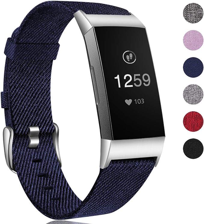 HUMENN Band Compatibel met Fitbit Charge 3 Banje, Ademende