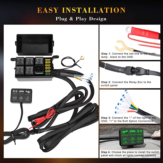 6 Gang Switch Panel, DJI 4X4 Electronic Relay System Circuit Control  Gang Switch Panel Wiring Diagram on 3 gang switch cover, 3 gang wall box, 3 gang weatherproof box cover, 3 gang electrical switches, 3 gang light switch, three switches one light diagram,