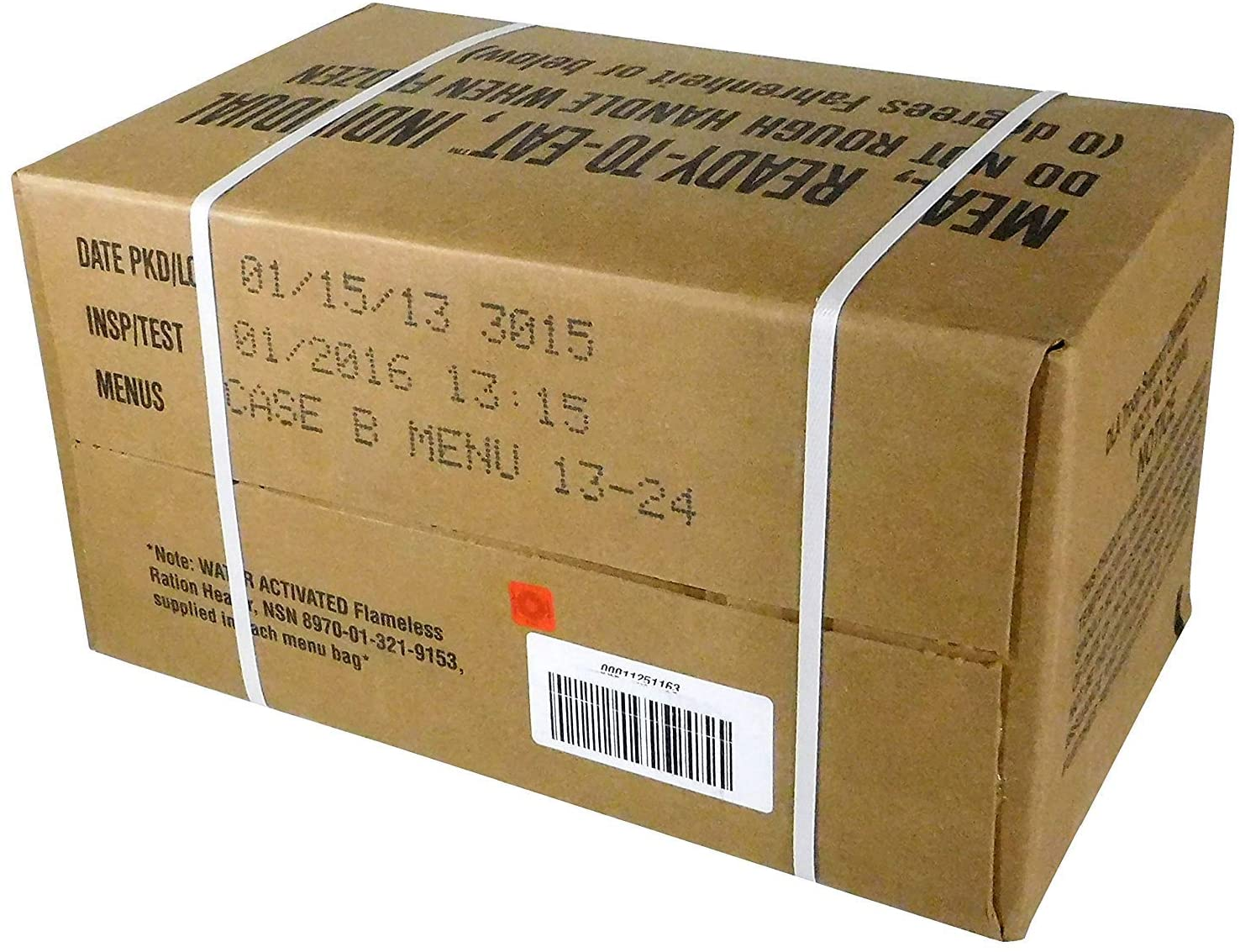 Amazon Com Mre Meals Ready To Eat Box A Genuine U S Military Surplus Menus 1 12 By Rothco Camping Freeze Dried Food Sports Outdoors