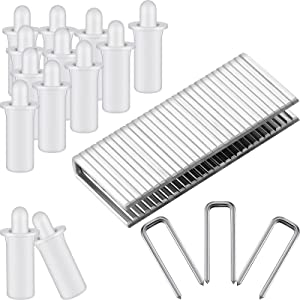 Patelai Repair Plantation Shutters Repair Set, Including Spring Loaded Shutter Pins and Tilt Rod Louvers Staples Replacement for Windows (160)