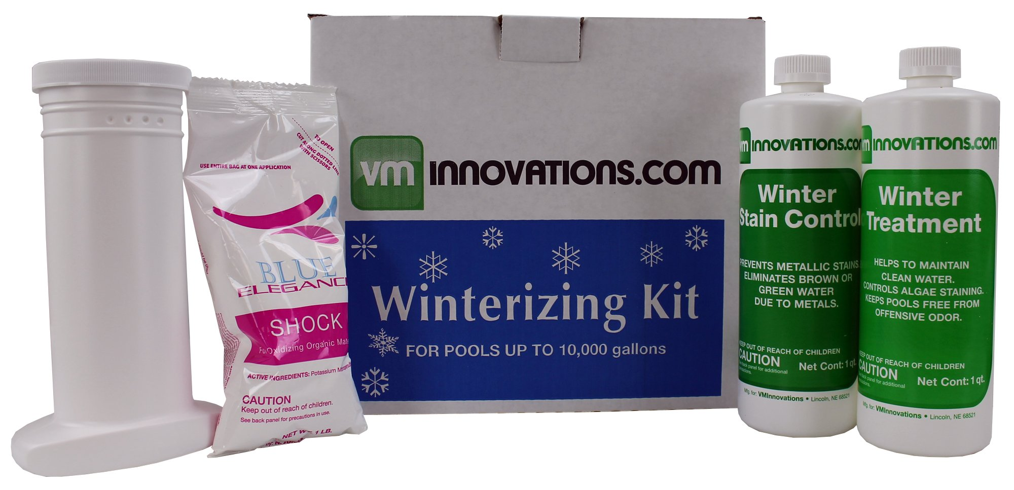 VMInnovations Swimming Pool Winterizing Chemical Treatment Closing Kit - Up to 10,000 Gallons by VMInnovations