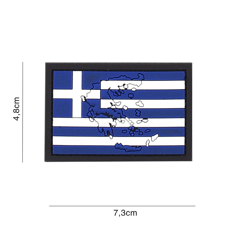 Tactical Attack Griechenland mit Kontur #4116 Softair Sniper PVC Patch Logo Klett inkl gegenseite zum aufn/ähen Paintball Airsoft Abzeichen Fun Outdoor Freizeit