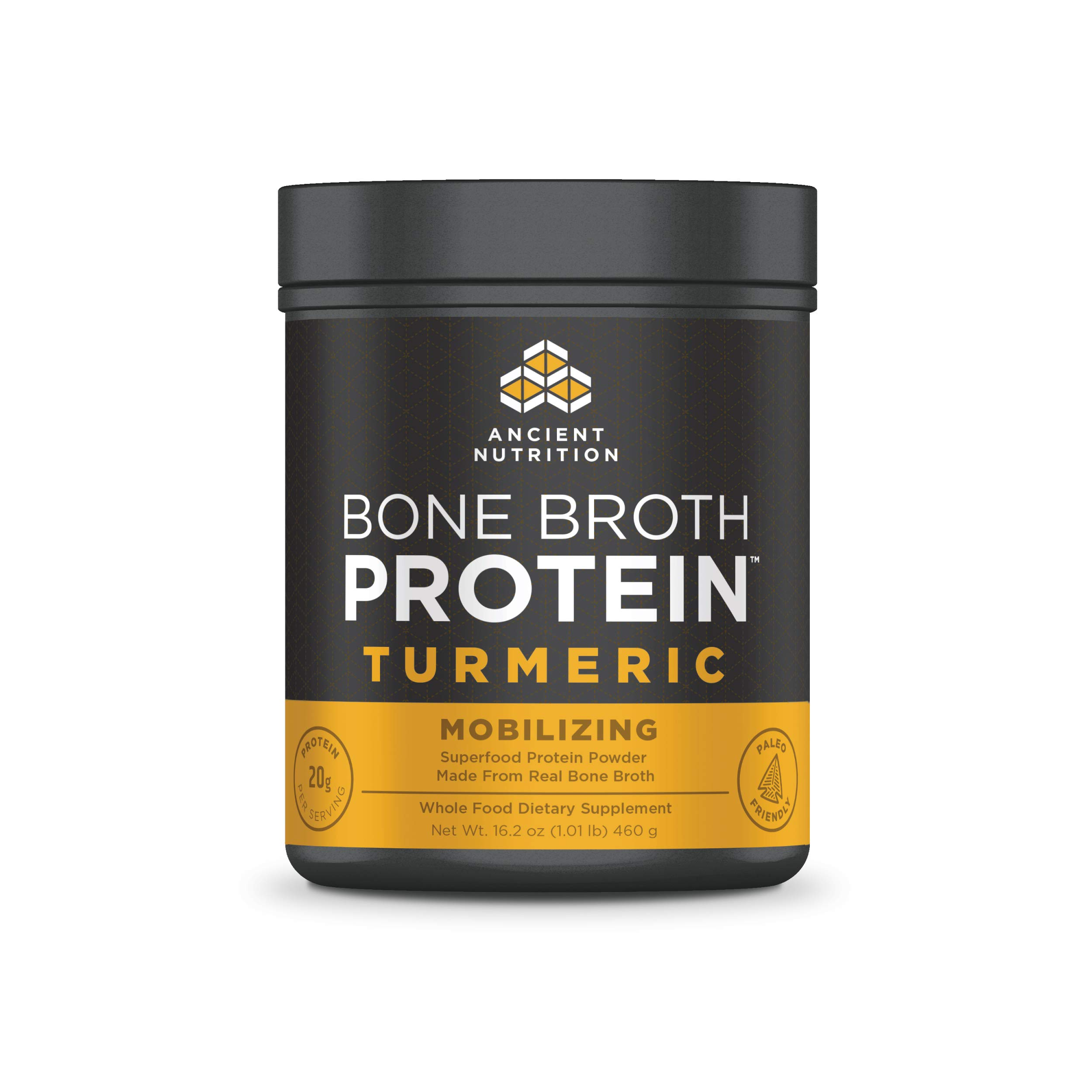 Ancient Nutrition Bone Broth Protein Powder, Turmeric Flavor, 20 Servings by Ancient Nutrition