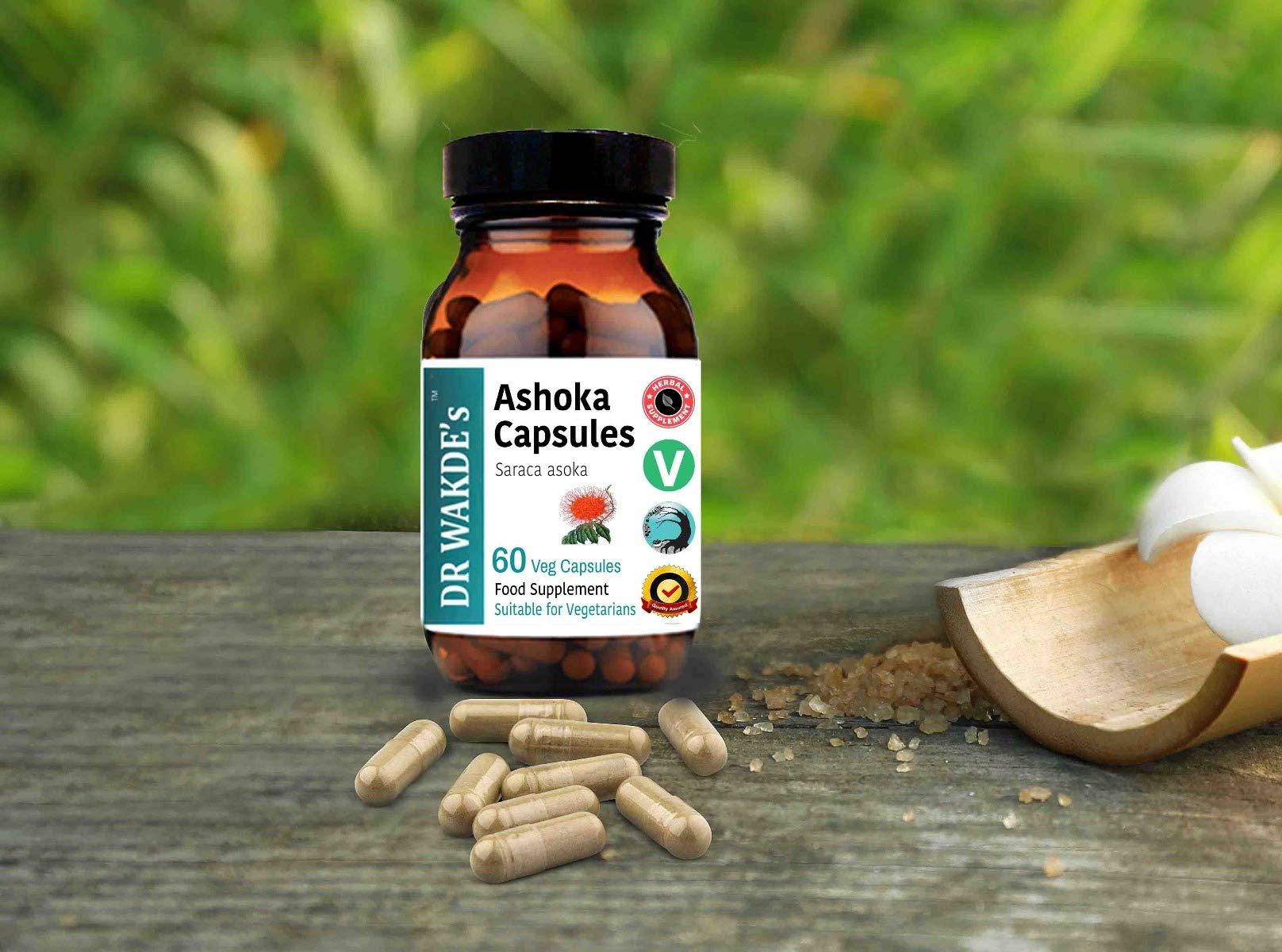 DR WAKDE'S® Ashoka Capsules (Saraca asoka) I 100% Herbal I 60 Veggie Capsules I Ayurvedic Supplement I FREE SHIPPING on multiples I Quantity Discounts I Same Day Dispatch