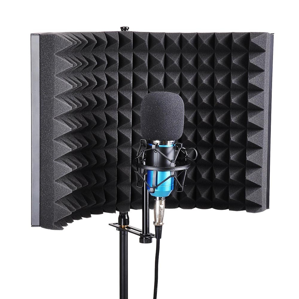 AW Studio Microphone Isolation Shield Acoustic Foam Panel Sound Absorbing Vocal Recording Panel Stand Mount by AW (Image #6)