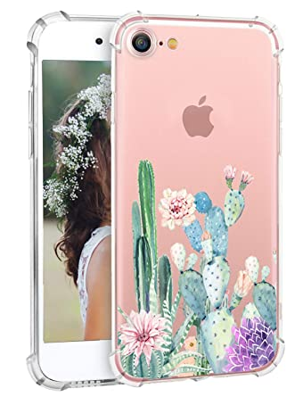 Amazon.com: Funda para iPhone 8 con diseño floral de flores ...