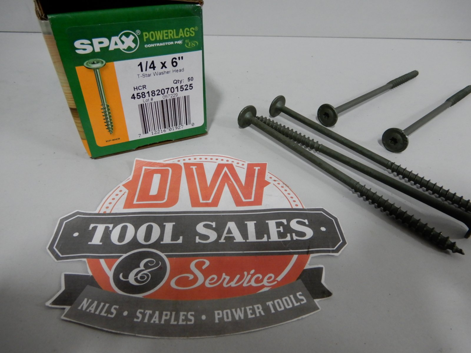 Spax Screws Made in USA 1/4'' x 6'' Washer Head Star Drive Exterior