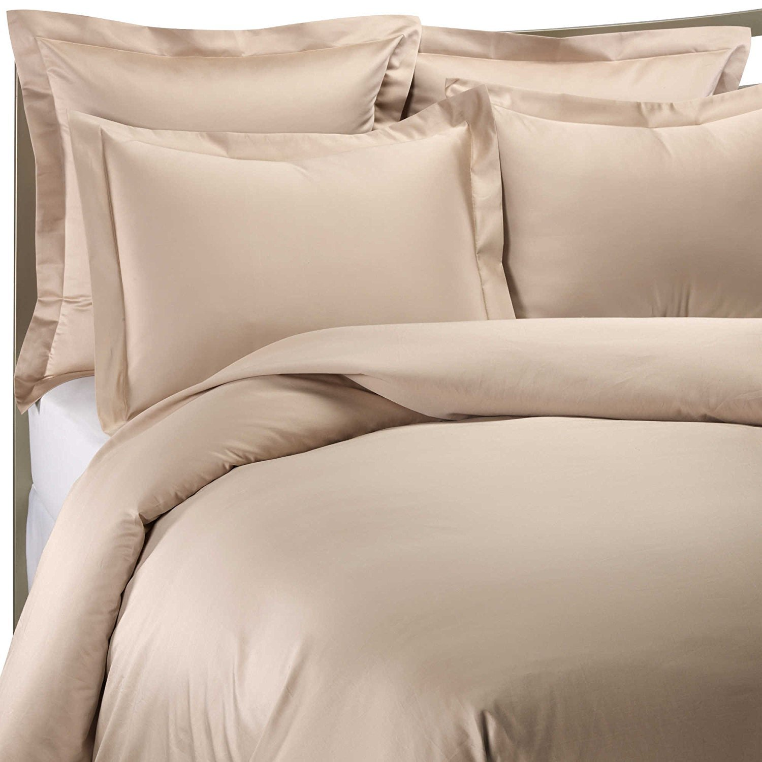1000 Thread Count Standard Pillow Sham in Taupe