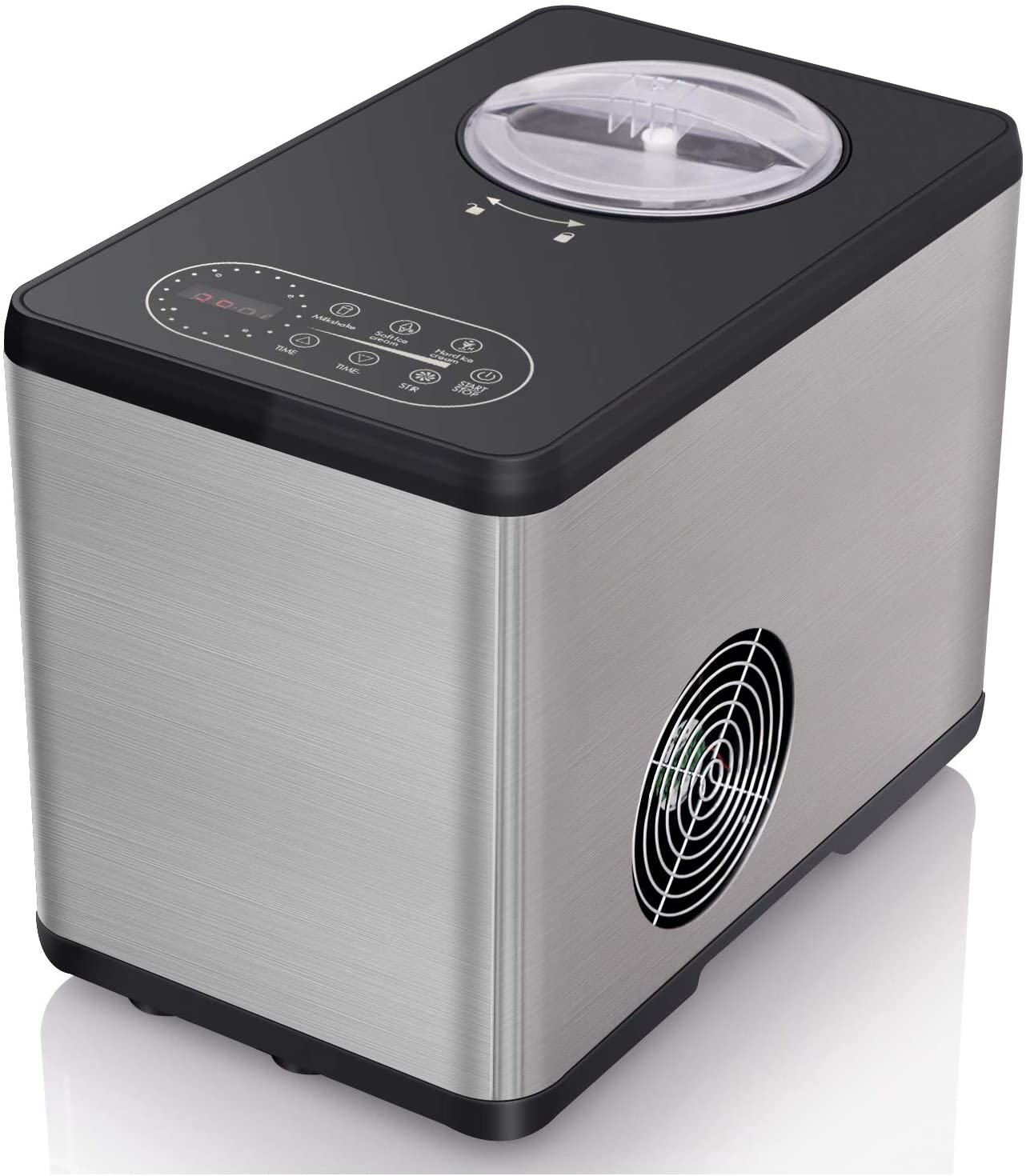 Northair Compressor Ice Cream Maker with LCD Display Screen, Countdown Timer
