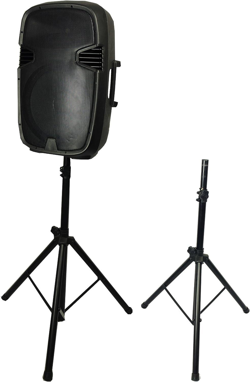 SuperSonic - Speaker Tripod Stand Plastic/Steel Constructed Tripod, Speakers Accessories - Black (SC-3STD)