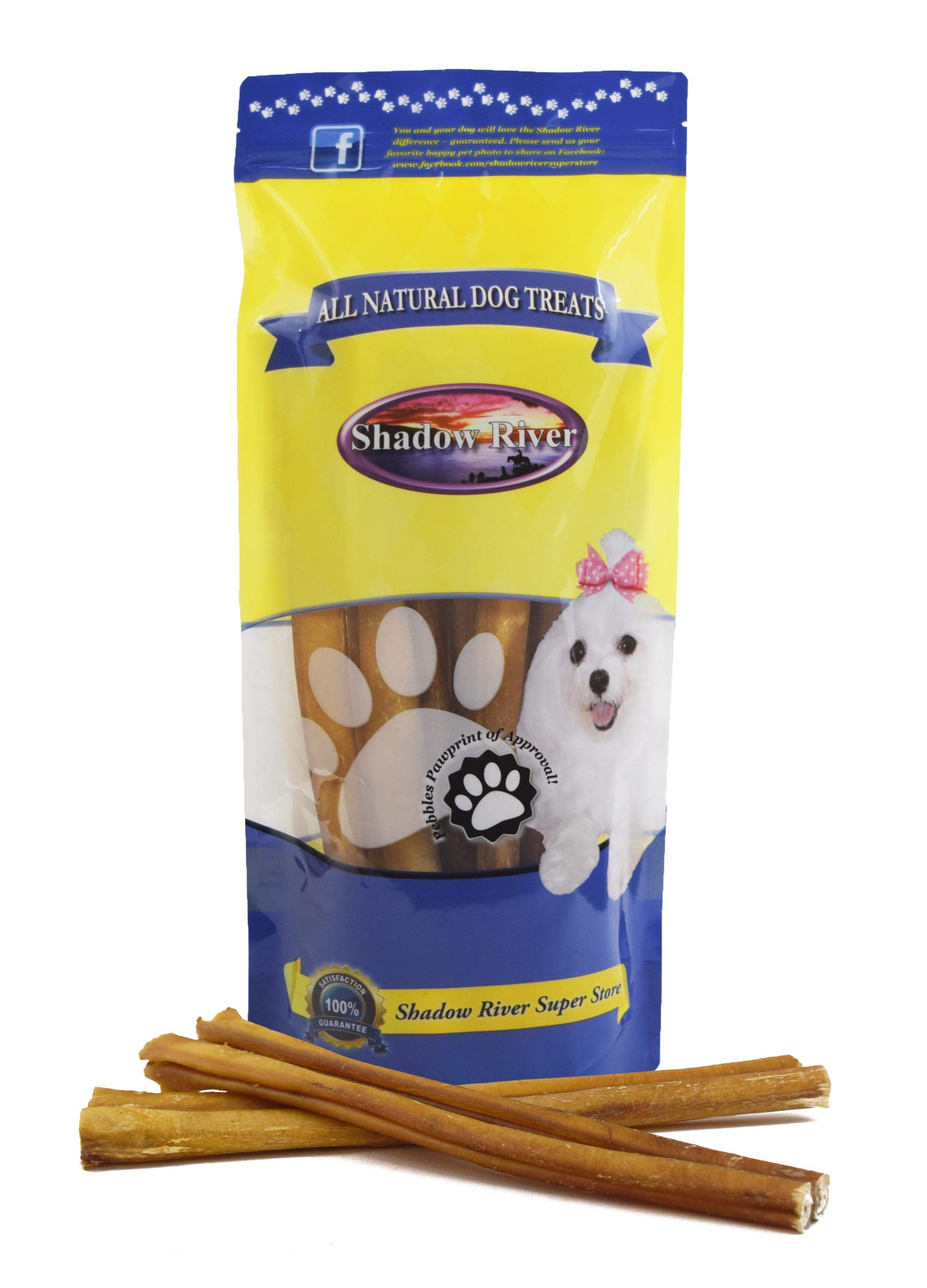 Shadow River 10 Pack 12 Inch Thick All Natural Premium Beef Bully Sticks for Dogs