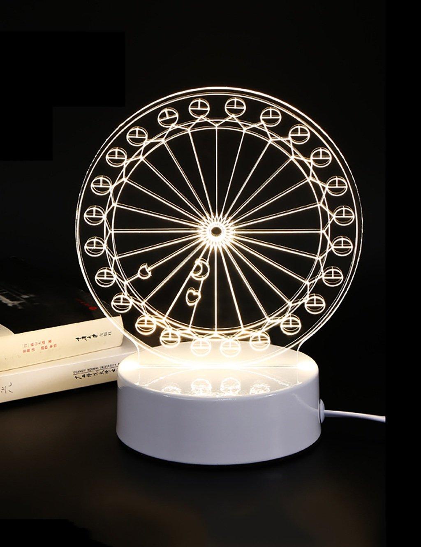 ZGW Lámpara de mesa Hierro lámpara de mesa de de noche LED luz de mesa la noche Niños de Navidad creativo regalo de cumpleaños de la lámpara de escritorio ZGW Luz de mesa ( Tamaño : E ) c82cdf