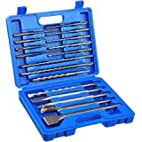 COMOWARE Rotary Hammer Drill Bits Set & Chisels- SDS PLUS Concrete Masonry Hole Tool 17pcs with Storage Case