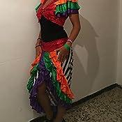 El Carnaval Disfraz Cubana Adulto Mujer: Amazon.es: Juguetes y juegos