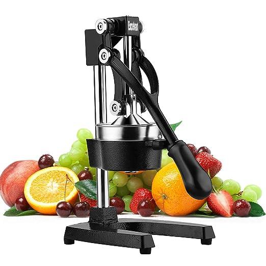 Excelvan Exprimidor manual de Frutas, Exprimidor de Zumo con Palanca profesional, Licuadora de Acero inoxidable, Sistema antigoteo