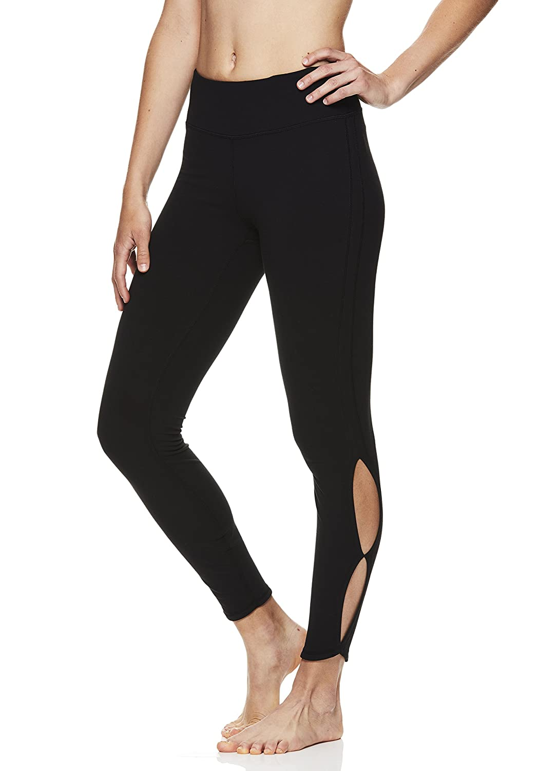 ec31c47d95 The Gaiam Athletic Tights are performance and fashion merged beautifully.  These leggings feature a high back rise and a wide waistband for a stay put  fit ...